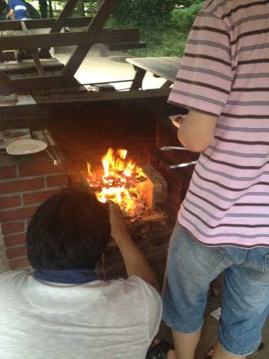 夏だ!炎だ!バーベキューだ!の巻@野性の森