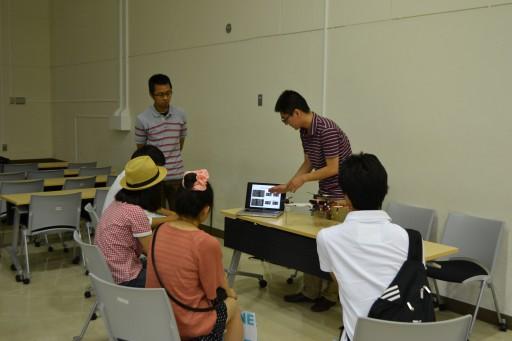 大学説明会において研究室のデモを行いました