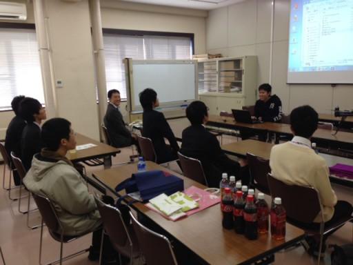 石川高専の越野先生と学生さんたちが研究室訪問にやってきました
